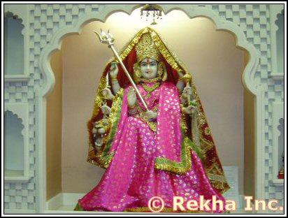 Durga Mata at Hindu Jain Temple - Image © PittsburghIndia.com.