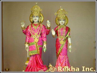 Lakshmi Narayan at Hindu Jain Temple - Image © PittsburghIndia.com.