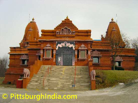 Hindu Jain Temple Entrance - Image © PittsburghIndia.com.